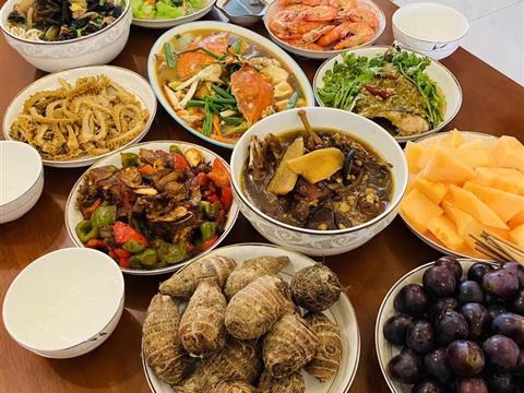 2021年中秋节快乐,朋友圈里的美味中秋团圆大餐